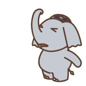 cute elephant animation emoji  funny gif emoji emoticons box