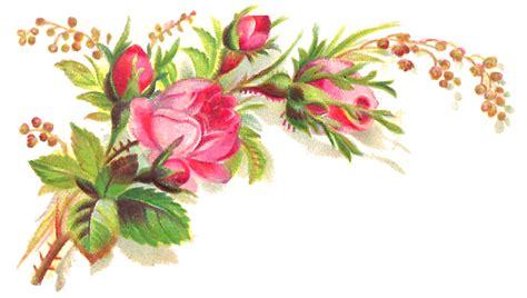 free floral images antique images free flower clip pink bouquet graphic corner design craft needlework
