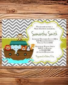noah s ark baby shower invitation ark baby shower