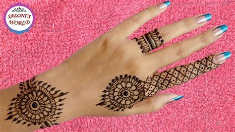 henna tattoo on back hand easy back henna mehndi designs for beginners