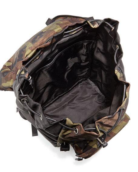 Camo Print Backpack prada camo print backpack green