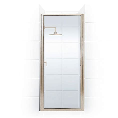 Hinged Glass Shower Door Coastal Shower Doors Paragon Series 35 In X 69 In Framed Continuous Hinged Shower Door In