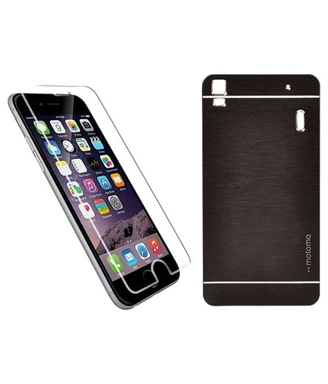 Lenovo A7000 K3 Note Back Aluminium Tempered Glass vsure back cover for lenovo k3 note a7000 motomo black with tempered glass screen protector