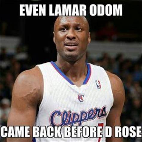 Lamar Odom Meme - derrick rose jokes kappit