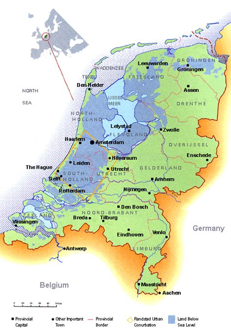 netherlands map sea level nedwater the difference