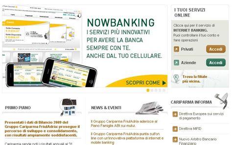www cariparma it cariparma nowbanking privati e piccole imprese cura le
