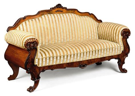 European Couches by A European Carved Walnut Sofa Late 19th Century