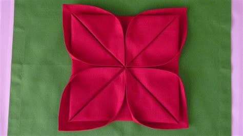 Paper Folding Lotus Flower - 10 best images of lotus flower napkin fold napkin flower