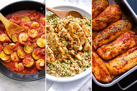 healthy dinner recipes 22 fast meals for busy nights eatwell101