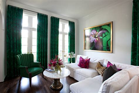 green curtains living room an eye on malachite how to get the emerald green look