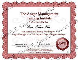 Anger Management Certificate Template by Anger Management Classes