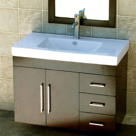 36 Quot Bathroom Wall Mount Vanity Cabinet Ceramic Top Sink Ebay Bathroom Vanity Wood Top