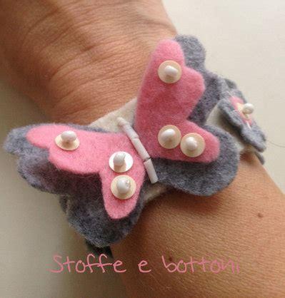 fiori in panno bracciale farfalla e fiori in panno gioielli bracciali
