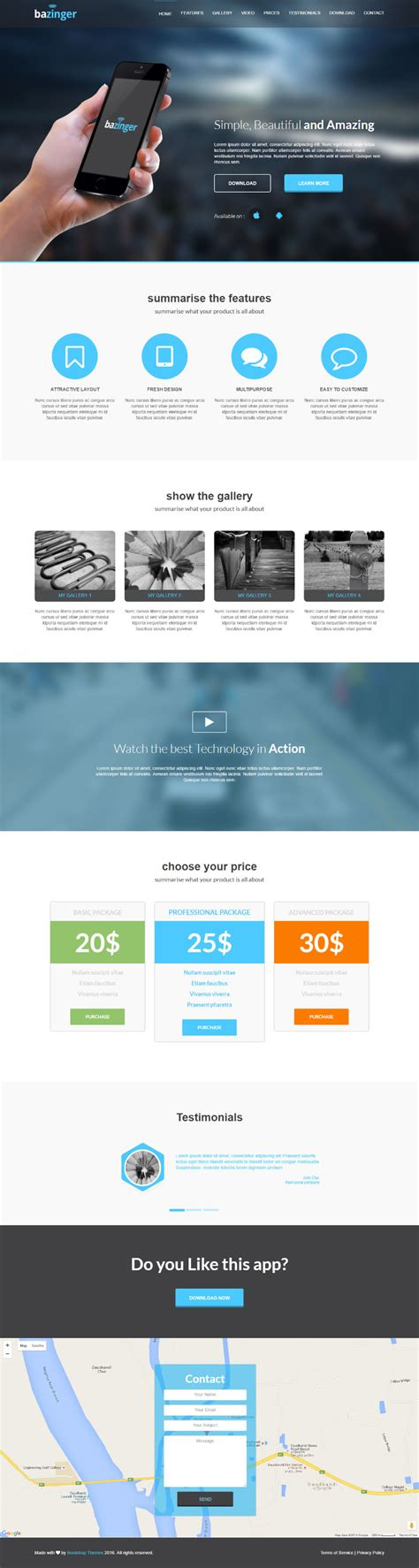 Github Bootstrapthemesco Bazinger Landing Page Template Amazing Is Fully Featured With One Github Website Template