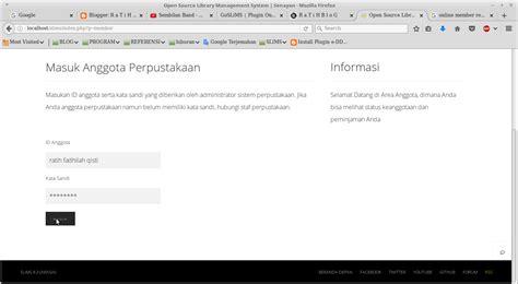 membuat form register html membuat form online member registration pada slims 8 r a