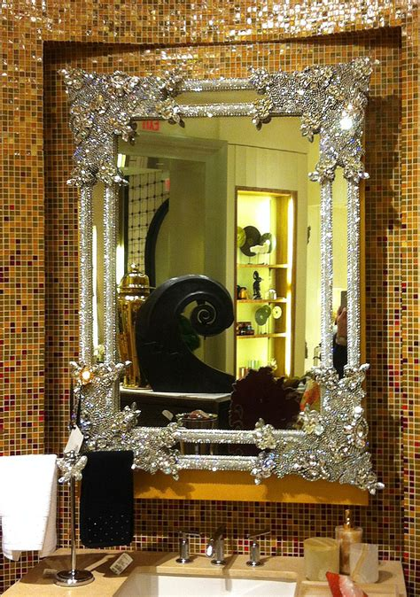 crystal bathroom mirror partytipz entertaining with style and ease