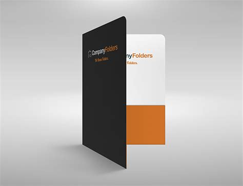 Free Psd 2 Pocket Presentation Folder Mockup Template On Folder Mockup Free