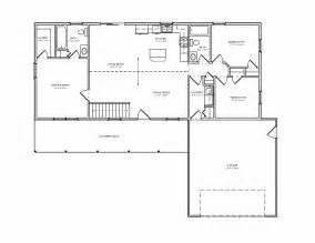 Small Bedroom Floor Plans by Simple Rambler House Plans With Three Bedrooms Small