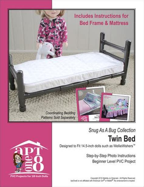 pattern for twin bed frame aptone8 twin bed pvc pattern 14 5 quot dolls such as