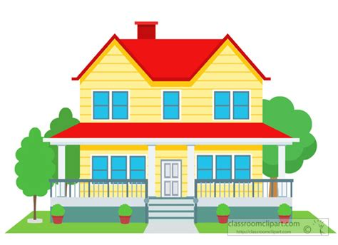 free clipart house home clipart duplex house building clipart 126