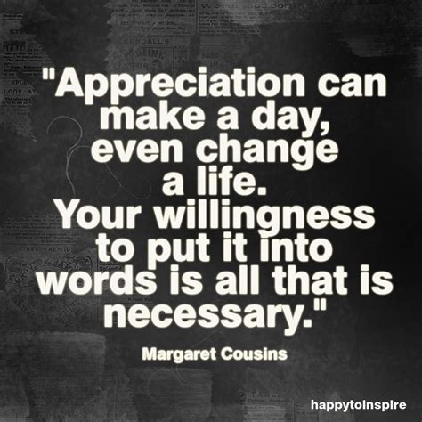 Appreciation Quotes Happy To Inspire Quote Of The Day Appreciation Can Make
