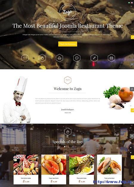 template joomla zaga 15 best restaurant cafe joomla templates 2015 frip in