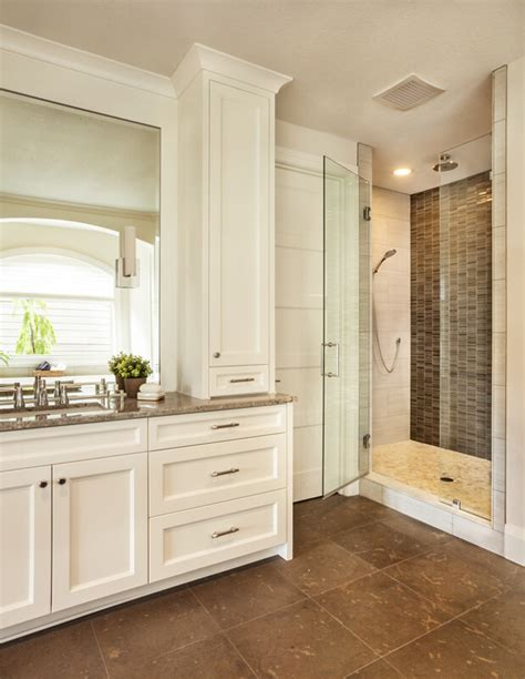 bathroom mirror with built in light multi generational trillium home by garrison hullinger
