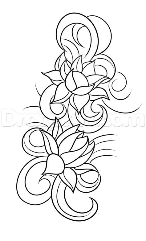 как нарисовать татуировку цветок лотоса учимся рисовать