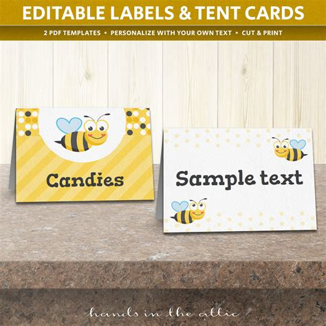 card bee template free easter food labels printable