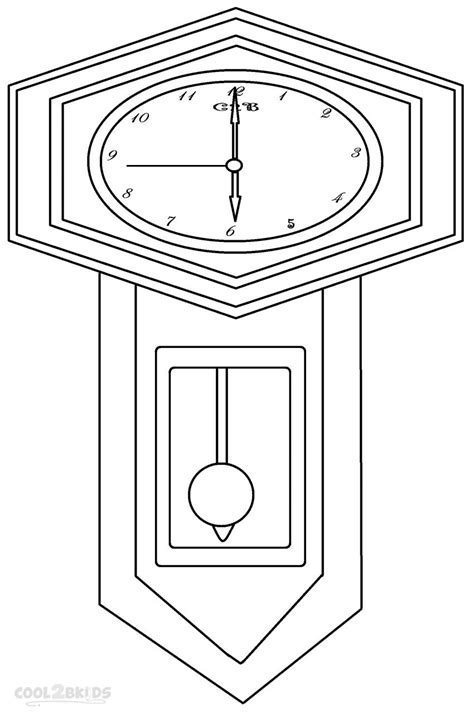 cuckoo clock coloring page pages sketch coloring page