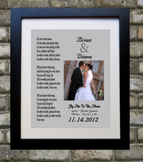 wedding song with lyrics any or 10 year anniversary present anniversary gift for