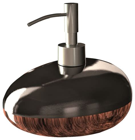 bathroom accessory set brown black modern