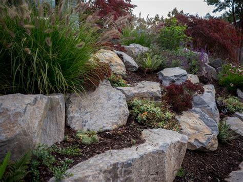 boulder retaining wall sellwood traditional landscape portland by tellurian gardens