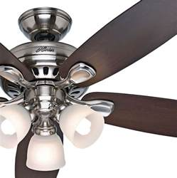 ceiling fan with light and remote 52 quot brushed nickel ceiling fan with light remote