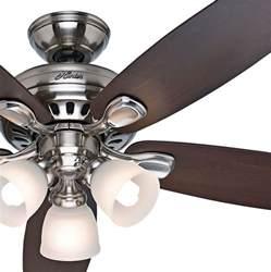 deckenventilator mit beleuchtung und fernbedienung 52 quot brushed nickel ceiling fan with light remote