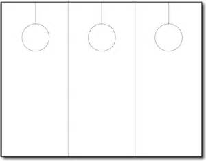 blank door hanger 3 up 250 sheets 750 door hangers