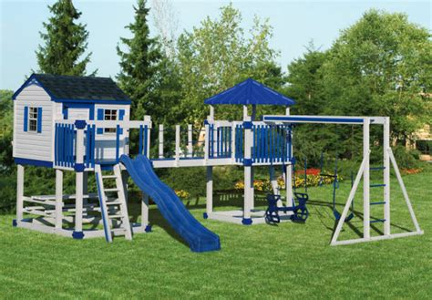 outdoor kids swing set playhouse swing set plans swingset c 5 castle vinyl