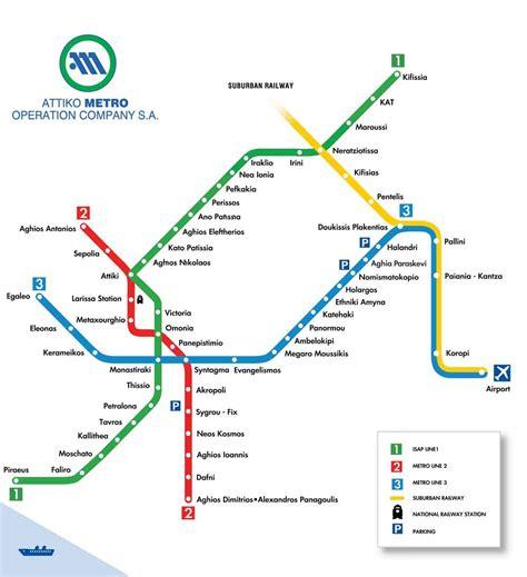metro map athens map