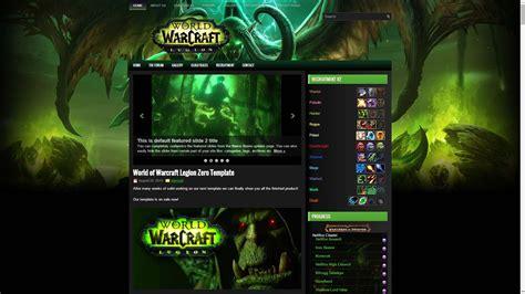 wordpress themes free world of warcraft world of warcraft legion zero wordpress theme