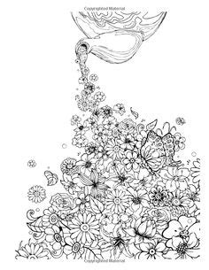 libro inky garden creative colouring 1000 images about coloring pages to print flowers on coloring books dover