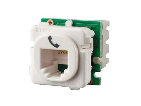 clipsal 30rj64smt modular socket category 3 6 way 4