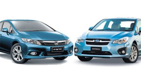 honda civic or subaru impreza to honda civic v subaru impreza