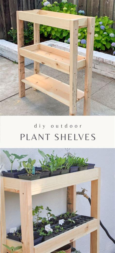 diy outdoor plant shelf hydrangea treehouse