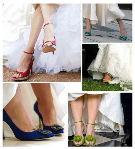Coloured Wedding Shoes by Colored Wedding Shoes Weddings Engagement
