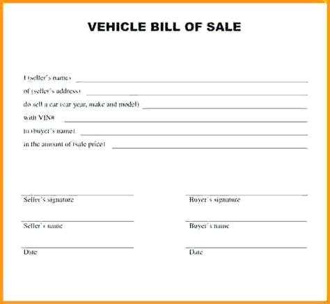 free bill of sale template word oloschurchtp com