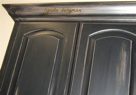 lynda bergman decorative artisan painting more black distressed cabinets for lori s home