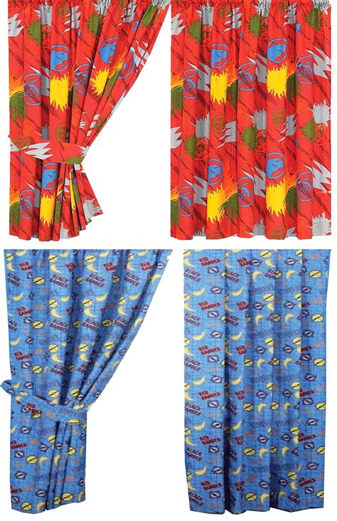 power curtain power rangers ready made kids cotton curtains tie backs