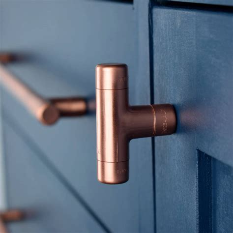 copper kitchen knobs copper t knob by proper copper design notonthehighstreet com