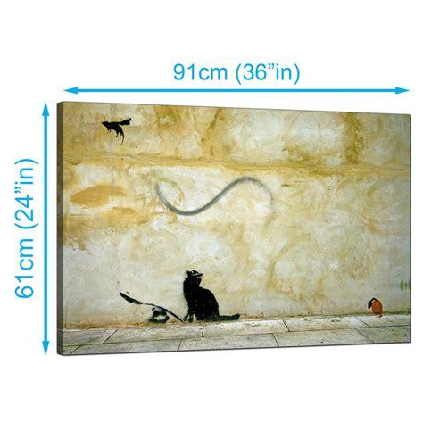 Canvas Uk 145 X 170 Digital Wall Wall Decor Hiasan Dinding banksy canvas prints cat and mouse
