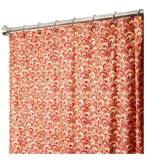 red long curtains extra long shower curtains